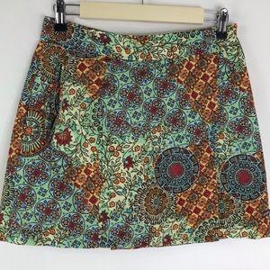 Athleta Skort Paisley Floral Skirt Built In Shorts